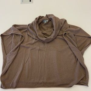 Brown poncho the cowl neck